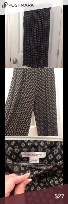 Liz Claiborne Capris Super soft and loose fitting, perfect for spring and summer. Neutral colors go with almost anything. EUC Liz Claiborne Pants Capris
