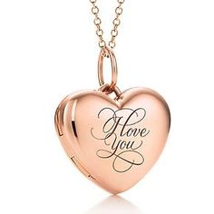 Tiffany & Co. Rose Gold \I Love You\ Locket