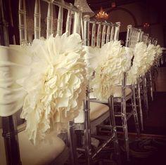 Hochzeitsdekoration selber machen essstühle verziert