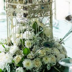 great idea for bird cage centerpieces