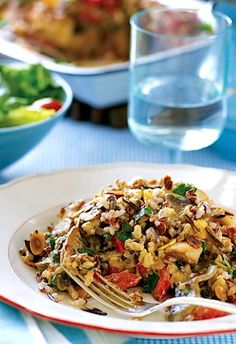 Trisha Yearwood's Chicken and Wild Rice Casserole (serves using cooked chicken), Main Dishes, Casseroles Ways To Cook Chicken, Chicken Recipes, Recipe Chicken, Turkey Recipes, Casserole Recipes, Rice Casserole, Casserole Ideas, Food Dishes, Main Dishes