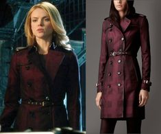 burberry long check trench coat in the color deep claret