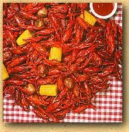 Boiled crawfish. Ice cold beer. Yum!!!