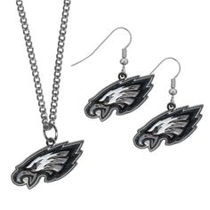 "Checkout our #LicensedGear products FREE SHIPPING + 10% OFF Coupon Code ""Official"" Philadelphia Eagles Dangle Earrings and Chain Necklace Set - Officially licensed NFL product The necklace and earrings feature cast metal team charms 22 inch chain necklace Hypo-allergenic fishhook posts A must-have for Philadelphia Eagles - Price: $18.00. Buy now at https://officiallylicensedgear.com/philadelphia-eagles-dangle-earrings-and-chain-necklace-set-fden065fn"