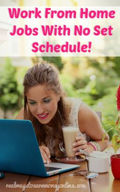 I get lots of Facebook messages and emails from people who are looking for work from home jobs that don't come with a strict, set schedule. This is probably the second most common request I get nex... Ways To Earn Money, Earn Money From Home, Make Money Blogging, Money Tips, Way To Make Money, Earn Money Online, Cash Money, Earning Money, Free Money