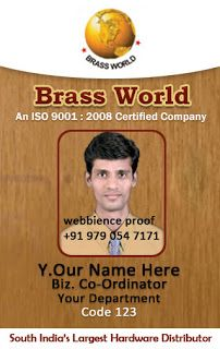Vertical Identity Card - Employee Identity Card by Webbience, Coimbatore
