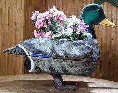 Ducky idea for a Planter! Mallard Duck Planter box