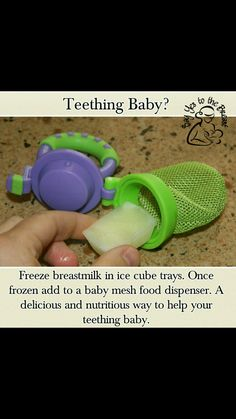 Great for teething baby.freeze breast milk in ice cube trays to put in baby mesh dispenser Great for teething baby.freeze breast milk in ice cube trays to put in baby mesh dispenser Baby Life Hacks, Mom Hacks, Future Mom, Baby Planning, Baby Health, Everything Baby, Baby Time, Ms Gs, Kids And Parenting