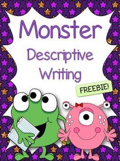 This FREEBIE is great for introducing descriptive writing. You could also use it as a Halloween writing activity! - The Center Based Classroom