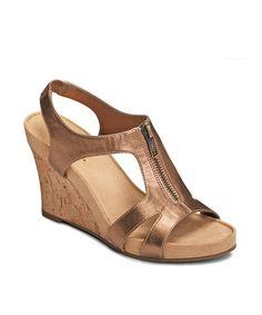 Look at this A2 by Aerosoles Bronze Dream Plush Wedge on #zulily today!