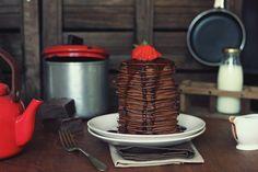 Kanela y Limón: Tortitas americanas de chocolate