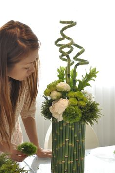 //Love the bamboo  #floral #arrangement