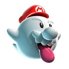 View an image titled 'Boo Mario Art' in our Super Mario Galaxy art gallery featuring official character designs, concept art, and promo pictures. Mario Kart, Game Mario Bros, Super Mario Brothers, Mario Bros., Super Mario Kostüm, Super Mario Cupcakes, Super Mario World, Image Mario, Nintendo Characters
