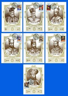 MOLDOVA. Moldovan Rulers - 1997. Official Maximum Cards set (7 pcs)