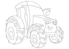 Tractor Coloring Page Pictures