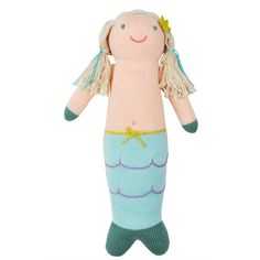 Hand-knit Mermaid doll - this would make an amazing gift to cuddle or display on a shelf! #PNshop