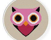 Buy 4 get 1 free ,Buy 6 get 2 free,Cross stitch pattern, PDF,owl,ZXXC0062