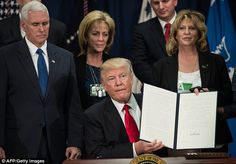 'Beginning today the United States of America .gets back its borders': Trump signs orders to build Mexican wall and attack sanctuary cities, announces new border guards and triples immigration enforcement force as he goes to war on immigration Executive Order, World Conflicts, Presidential History, Global Conflict, Sanctuary City, Heritage Foundation, Trump Sign, Trump Tweets, Federal