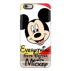 iPhone 6 Plus/6/5/5s/5c Case - Everything Gets Better with Mickey... ($40) ❤ liked on Polyvore featuring accessories, tech accessories, iphone case, apple iphone cases, slim iphone case and iphone cover case
