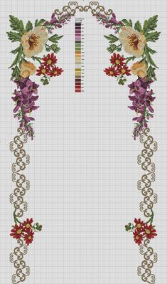 This Pin was discovered by Hul Cross Stitch Bird, Cross Stitch Borders, Cross Stitch Flowers, Cross Stitch Designs, Cross Stitching, Cross Stitch Embroidery, Embroidery Patterns, Cross Stitch Patterns, Wedding Embroidery