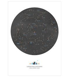 Constellations Noémie Cédille à partir de 59€ #affiche #enfants #deco #kids