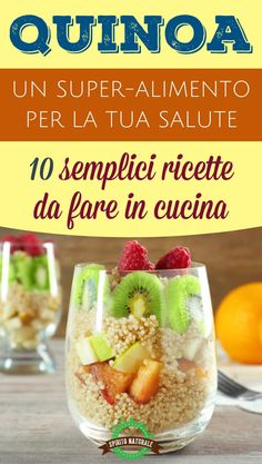 La QUINOA è un vero SUPER-ALIMENTO per la tua salute. 10 semplici ricette da fare in cucina Light Recipes, Wine Recipes, Low Carb Recipes, Vegetarian Recipes, Cooking Recipes, Healthy Recipes, Sports Food, Keto Nutrition, Clean Eating Dinner