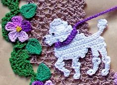Pretty Poodle pdf crochet pattern by PetalsnMore on Etsy