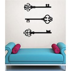 DIY romantic valentines day decor idea with vintage skeleton keys Keys to my Heart Wall Art Kit | WallPops!