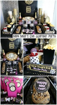 New Year's Eve Slumber Party. Great way to spend the New Years with kids! A fun way for kids to ring in the new year is with a New Year's Eve slumber party! Yes, we have party ideas PLUS party printables for that! New Years Eve Birthday Party, New Years Eve Party Ideas Food, New Year's Eve Party Themes, New Years Eve Snacks, New Year's Snacks, Nye Party, Elmo Party, Mickey Party, Dinosaur Party