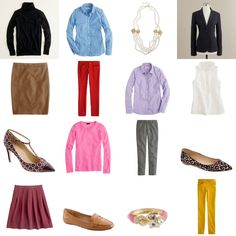 tons of cute outfits with jcrew staples.....Inspired Design: Your Invited: Me + You + J. Crew