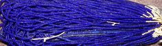 COBALT BLUE AFRICAN tRADE bEADS by PetiesPorch on Etsy