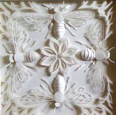"cut paper: bees #bees    #bee Bee art, bee prints, bee, bees.  ""If bees disappeared from the earth,  man would have four years to live""  -Einstein  Please, help us tell the US government, Home Depot, Lowes and the media that we DO NOT SUPPORT Bee killing pesticides our governtment just approved.    http://action.foe.org/p/dia/action3/common/public/?action_KEY=14141"