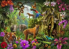 Marvelous Drawing Animals In The Zoo Ideas. Inconceivable Drawing Animals In The Zoo Ideas. Jungle Scene, Jungle Art, Jungle Animals, Cute Animals, Games Jungle, Draw Animals, Creature Drawings, Animal Drawings, Art Drawings