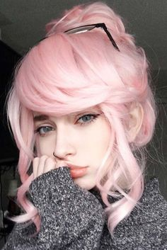 Pin by dana mcbride on hair pins in 2019 pastel pink hair, hair color pink,