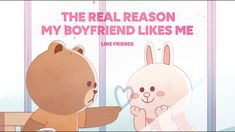 Line friends valentine's day SP| The Real Reason My Boyfriend Likes Me? Cartoon Network Uk, Line Japan, Cony Brown, Cute Love Gif, Brown Line, Line Friends, My Boyfriend, Singing, Valentines