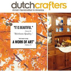The accolades just keep coming for our beautiful McCoy Hutch! Come see what all the fuss is about  shop the #linkinbio!  #dutchcrafters #amishhutch #hutch #kitchenhutch #testimonal #customerphoto #happycustomer #amishfurniture