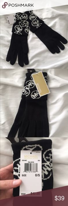 New Michael Kors gloves Brand-new with tag Micheal Kors gloves. Black with white logos Michael Kors Accessories Gloves & Mittens