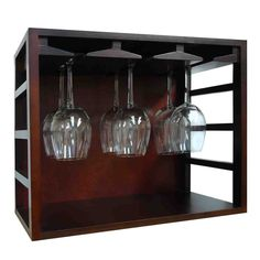 Stackable Wine Glass Rack - All wood rack. No assembly required. Holds approximately stemware glasses. Wine Glass Shelf, Wine Wall, Wine Glass Holder, Glass Shelves, Tabletop, Wood Rack, Rack Design, Wine Storage, Storage Drawers