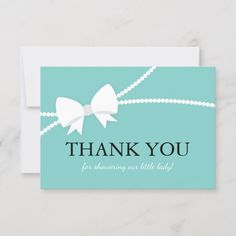 Gender Neutral Printable Co-ed Thank You Flat Thank You card, Teal and Yellow Bridal Shower Thank You Baby Shower Thank You Card