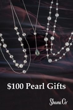Browse our entire collection of pearl necklaces. Select from beautiful freshwater pearl strands, pendants & pearls with diamonds. Shop now with Shane Co. Candy Jewelry, Cute Jewelry, Jewelry Crafts, Jewelry Accessories, Handmade Jewelry, Pearl And Diamond Necklace, Silver Engagement Rings, Ring Engagement, Making Ideas