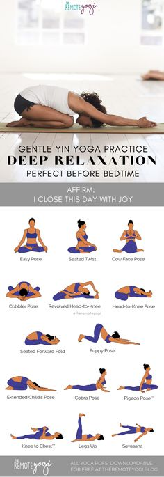 Click on the image to grab your FREE printable PDF for this gentle yin yoga sequence, perfect for creating deep relaxation #yoga #yinyoga #freeyoga
