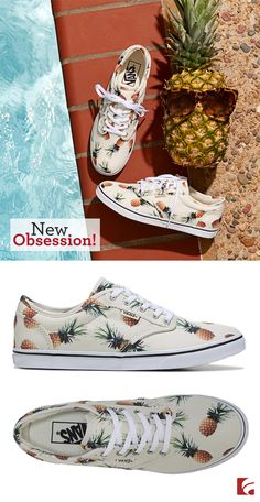It's time you treated your feet to something sweet—and we know just what you need. A little retro, a little quirky and totally trendy, these pineapple Vans will definitely keep your summer wardrobe looking fresh. Pineapple Vans, Pineapple Room, Cute Pineapple, Pineapple Clothes, Pineapple Outfit, Pineapple Girl, Pineapple Necklace, Skate Shoes, Vans Shoes