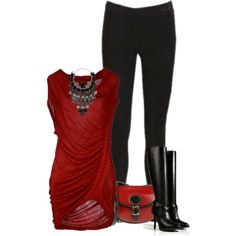 Red Tunic, created by chicgirl15 on Polyvore