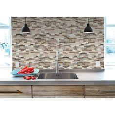 Peel and Stick Tile Backsplash | Muretto Durango | Smart Tiles