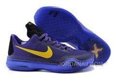 Kobe 10 X Laker Purple Gold Nike Shox Shoes c7861b31fa