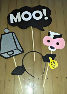 Cow Print - Photo Booth Props Farm Party Decorations, Graduation Table Decorations, Diy Birthday Decorations, 25th Birthday, Birthday Parties, Birthday Nails, Diy Photo Booth Props, Photo Booths, Cow Print Birthday