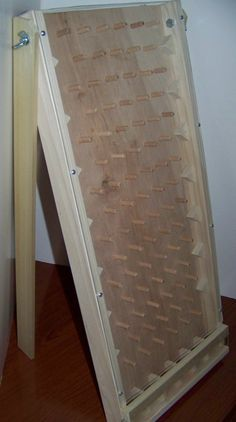 Solid hardwood tabletop plinko game board New Style hours of fun for parties benefits tradeshow home. $69.99, via Etsy.