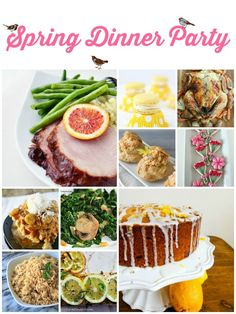 Spring-Dinner-Party-This menu is sure to please your guests! Perfect for showers!