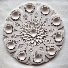 """""""The continual stream of new discovery, revelation and inspiration which arises at every moment is the manifestation of our clarity. We should learn t Clay Art Projects, Ceramics Projects, Clay Crafts, Ceramic Clay, Ceramic Pottery, Clay Wall Art, Clay Texture, Sculptures Céramiques, Paperclay"""