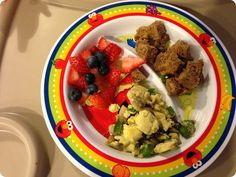 Breakfast idea- mix veggies (like peppers and mushrooms) into scrambled egg